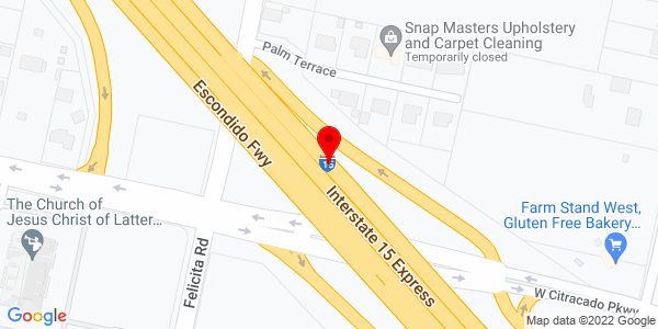 Google Map of +Escondido+Fwy+Escondido+%28San+Diego%29+CA+92025