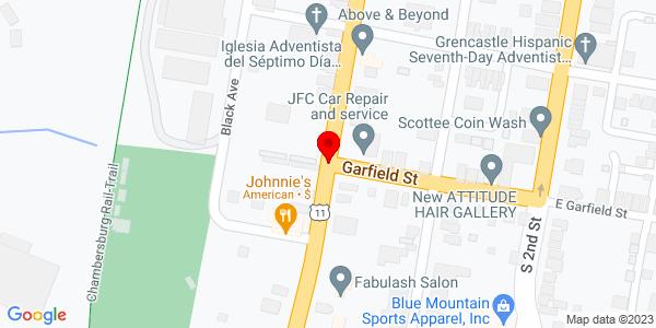 Google Map of +Rt+11+%26+South+Main+Street+Chambersburg+PA+17201