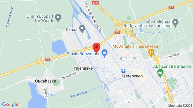 Heerenveen+Nissan op Google Maps