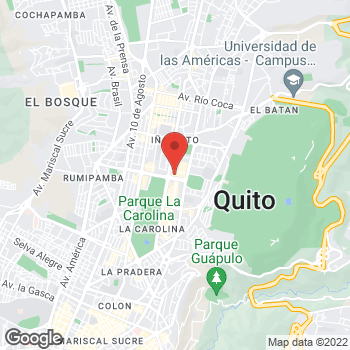 Map of Salvatore Ferragamo at Ave. Naciones Unidas y Shyris, Quito, Pichincha 170135