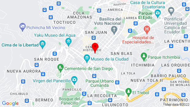 Google Map of Calle García Moreno y Pasaje Espejo, Quito, Pichincha