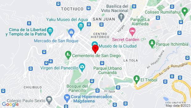 Google Map of Calle Juan de Dios Morales 999 y Venezuela, Quito, Pichincha 170150