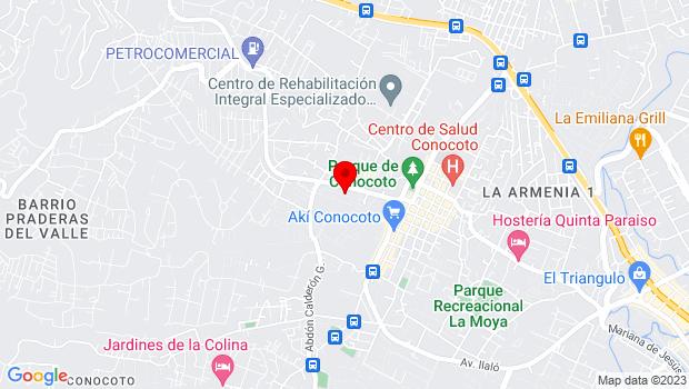 Google Map of Parque Central de Conocoto, Conocoto, Pichincha 170156