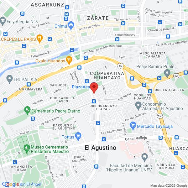 Av. Jose Carlos Mariategui 2360. El Agustino, Lima.