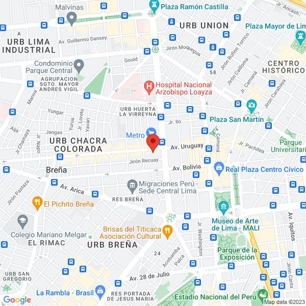 Jirón Bailones 107. Cercado de Lima, Lima.