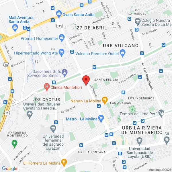 Avenida La Molina 620 (Camposport). La Molina, Lima.