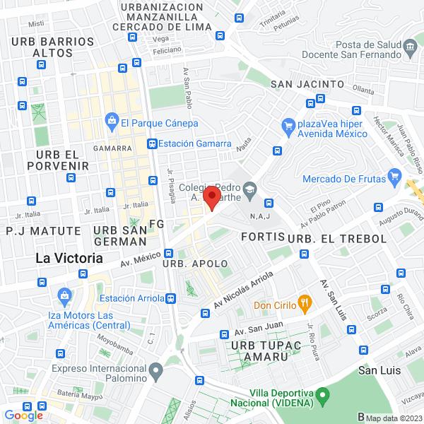 Avenida México 1919. La Victoria, Lima.
