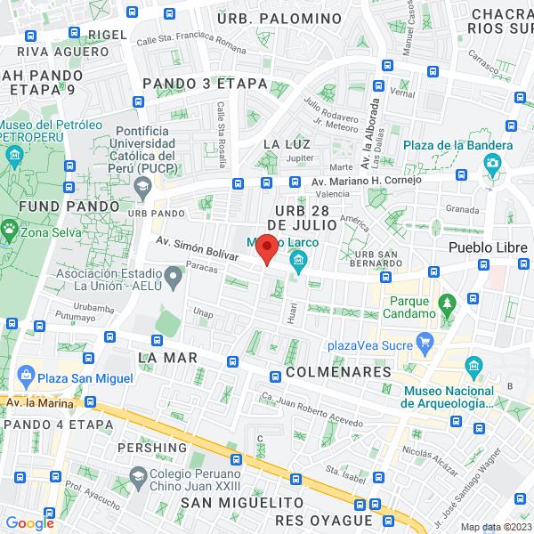 Av. Bolivar 1695. Pueblo Libre, Lima.