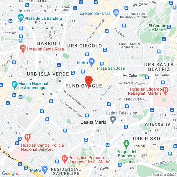 Av. Húsares de Junín 374, 5to piso. Jesús María, Lima.
