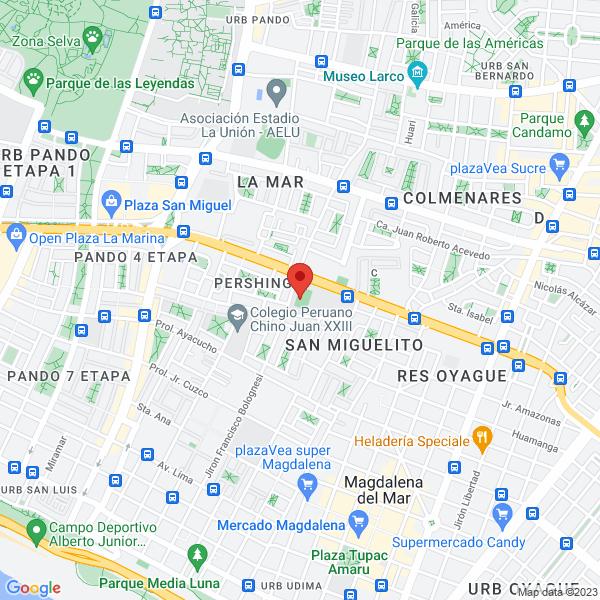 Jirón Caminos del Inca 290 (Cancha colegio Bartolomé Herrera). San Miguel, Lima.