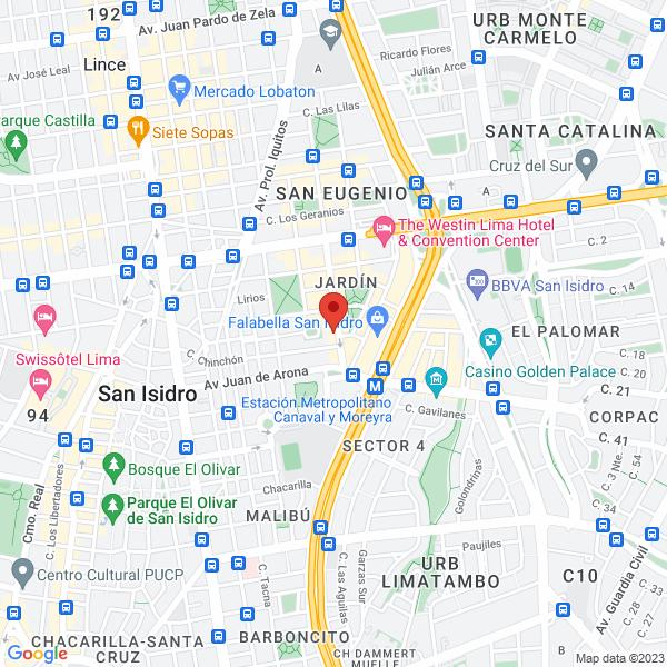 Avenida Rivera Navarrete 770, Of. 502. San Isidro, Lima
