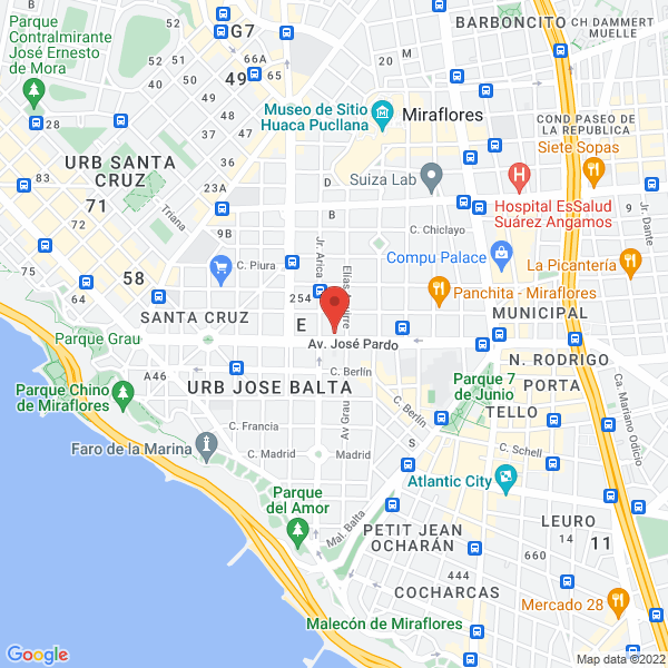 Av. José Pardo 620, oficina 301. Miraflores, Lima.