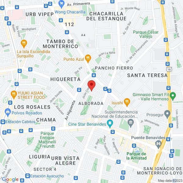 Pasaje Zodiaco 459, Club Deportivo La Alborada. Santiago de Surco, Lima.