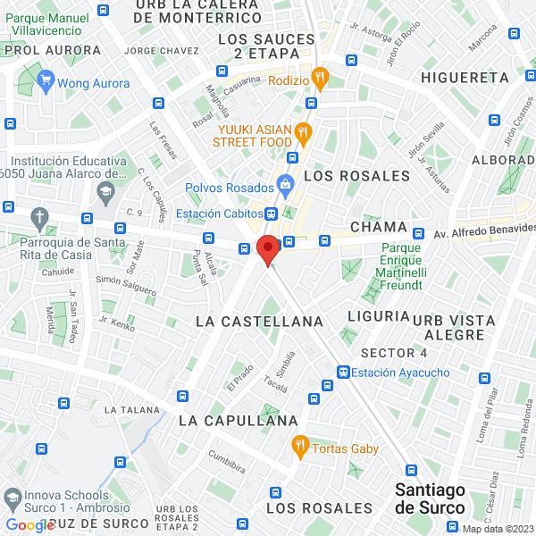 Av. Tomás Marsano 3054. Santiago de Surco, Lima