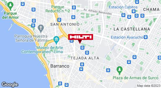 Obtener indicaciones para Tienda Hilti Lima