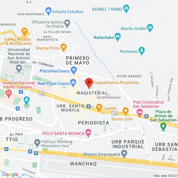 Calle José Gabriel Cosio 312 Urb. Magisterio 1ra etapa. Cusco, Cusco.