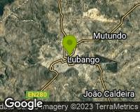 Lubango - Mapa da área