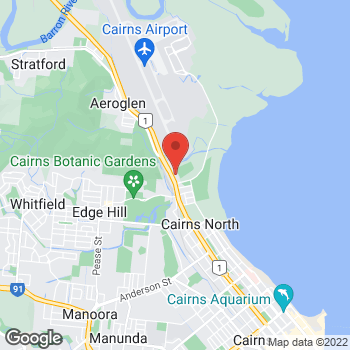 Map of O'Brien® AutoGlass Cairns at 430 Sheridan Street, Cairns North, QLD 4870