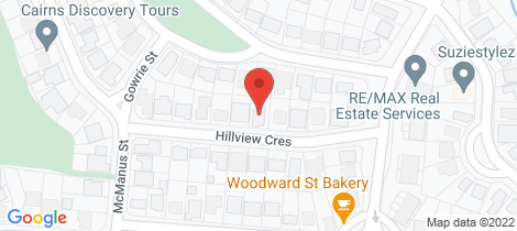 Location map for 12 Hillview Crescent Whitfield