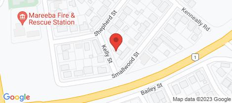 Location map for 3 Kelly Street Mareeba