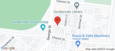 Location map for 77 George Street Gordonvale