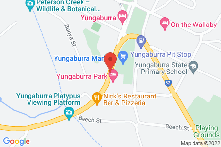 Map of Curtain Fig Motel Yungaburra
