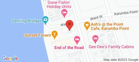 Location map for 4 Ward Street Karumba