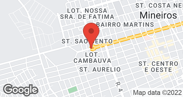 Avenida Antonio Carlos Paniago, Quadra 25 Lote 01 Bairro Setor S.Bento, Mineiros, GO