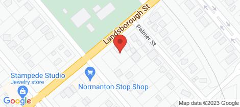 Location map for 36 Landsborough Street Normanton