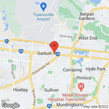 Map of O'Brien® AutoGlass Townsville at 302 Woolcock Street, Townsville, QLD 4814