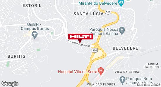 Get directions to Hilti Center Belo Horizonte