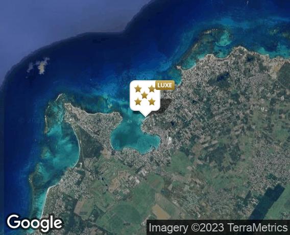 Localisation de l'hôtel Royal Palm Beachcomber