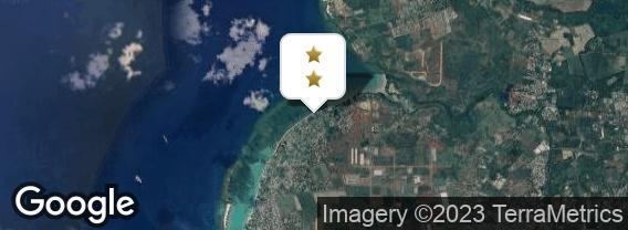 Localisation de l'hôtel Les Cocotiers