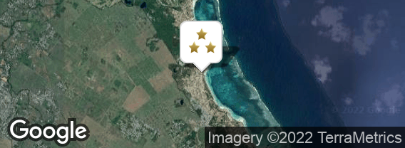 Localisation de l'hôtel Emeraude Beach Attitude