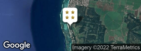 Localisation de l'hôtel La Pirogue Resort & Spa