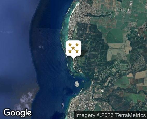 Localisation de l'hôtel Hilton Mauritius Resort & Spa