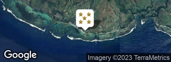 Localisation de l'hôtel Outrigger Mauritius Beach Resort