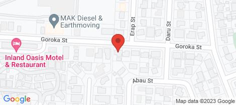 Location map for 1 Goroka Street Mount Isa