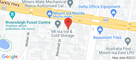 Location map for 18a Marshall Street Mount Isa