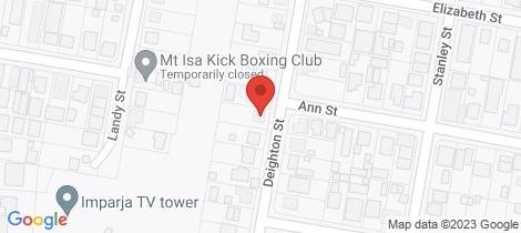 Location map for 41 Deighton Street Mount Isa