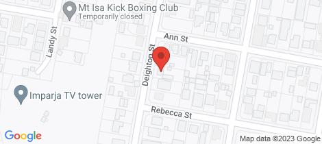Location map for 40 Deighton Street Mount Isa