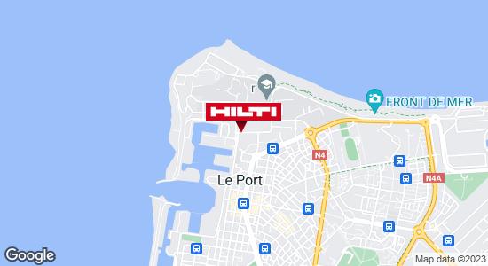 Get directions to Espace Hilti - Dom-Tom Ravate professionnel - La Réunion