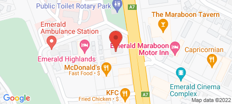 Location map for 65 Hospital Road Emerald