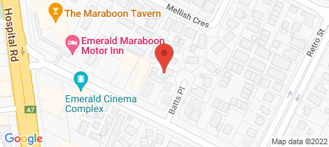 Location map for 7 Batts Place Emerald