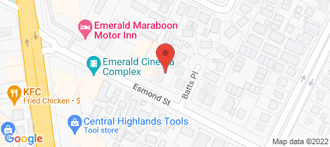 Location map for 21 Esmond Street Emerald