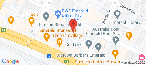 Location map for 62 Egerton Street Emerald