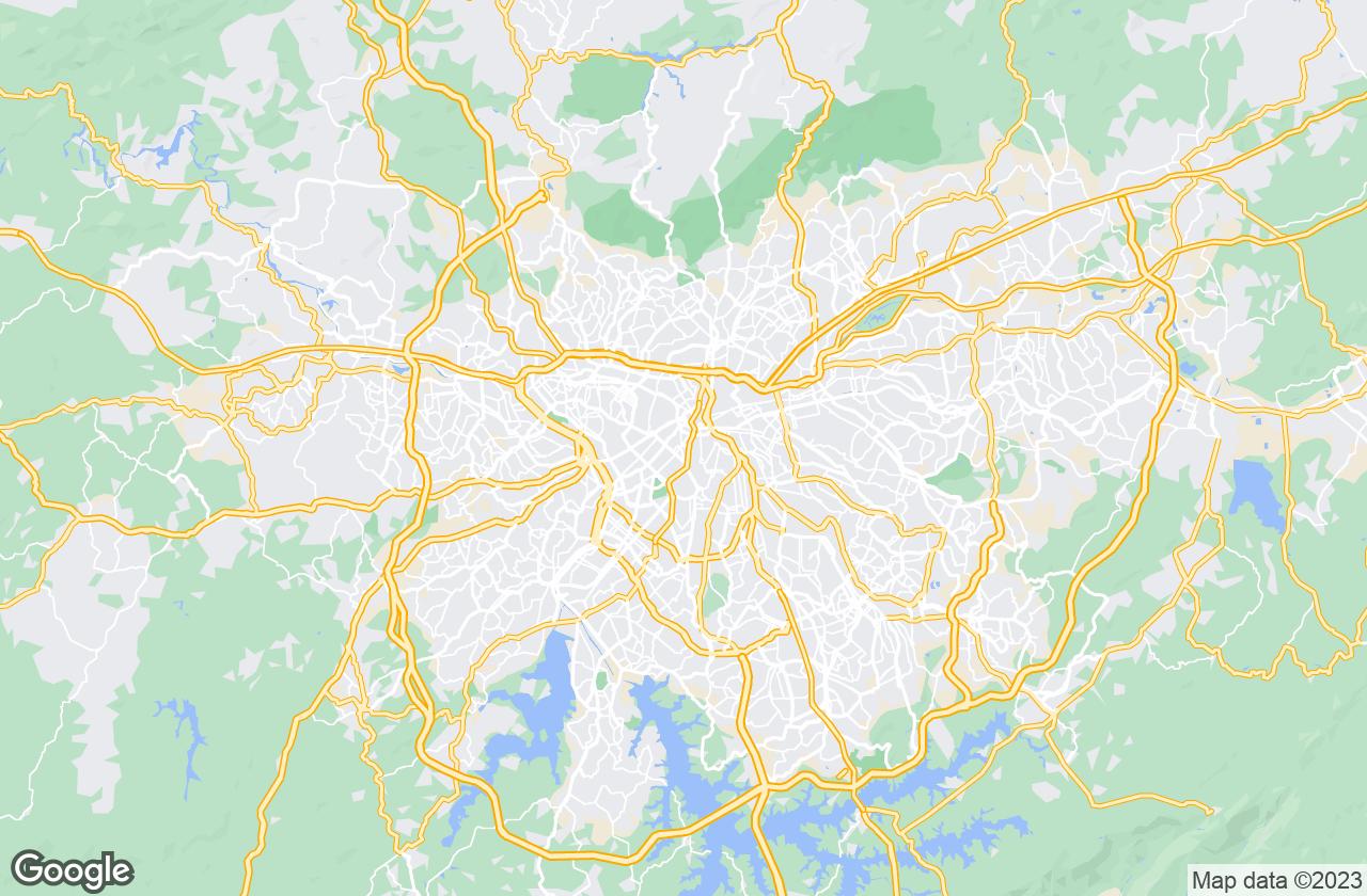 Google Map of ساو باولو