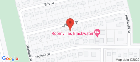 Location map for 15 Lawless Street Blackwater