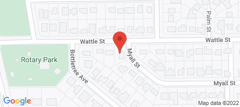 Location map for 2 Myall Street Blackwater