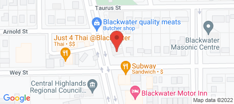 Location map for 3/15 Mackenzie Street Blackwater